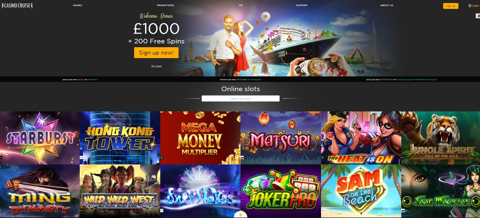 casino cruise online slots and casino games