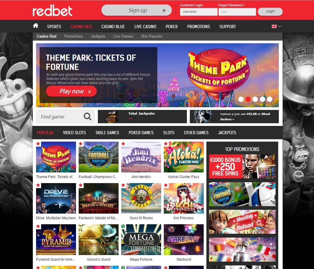 redbet casino games and slots